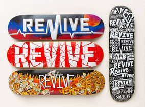 Buy Revive Skateboards Decks Germany Austria & All over Europe / VMS Distribution Europe - Revive Force 3Block Braille
