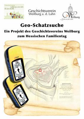 Weilburger Stadtgeschichte einmal anders – mit Satellitenunterstützung geht quer durch die Weilburger Altstadt. Immer auf der Suche nach einem Schatz und mit vielen Eindrücken der barocken Residenzstadt.