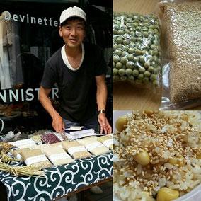 有機で玄米やお豆を生産している「すみや農園」さん