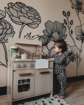 Muurtekening / muurschildering kinderkamer