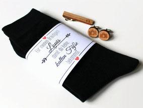 Socken für den Bräutigam gegen kalte Füße