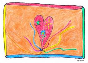 Die Herzqualle mit ihren Tentakeln