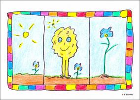 Der Löwe Breschnjeff mit seinen drei Blumen