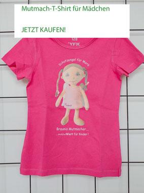 T-Shirt mit Aufdruck von Mutmach-Engel für Mädchen