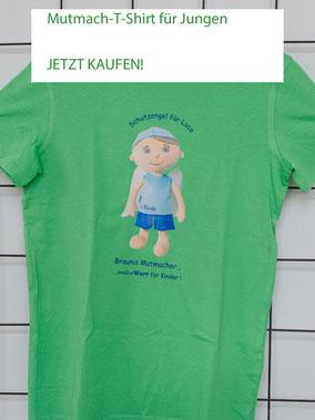 T-Shirt mit Aufdruck von Mutmach-Engel für Jungen