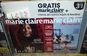 Portada de Marie Claire de diciembre 2014