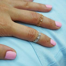 Suenos Jewellery Knucklering Wonderland in silber und roségold