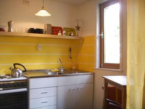 Im Preis enthalten: voll ausgestattete Küche und