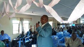 Maire de ville de Mwene-Ditu intervenant