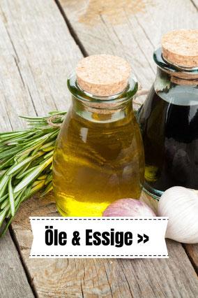 Öle und Essige zum Abfüllen und Nachfüllenden