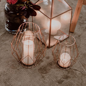 Kupferdekoration Kupferwindlichter
