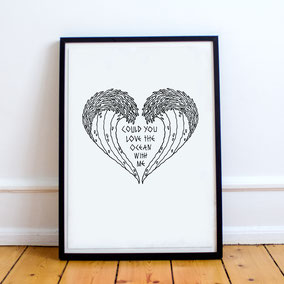 Ocean Love Print 25.-