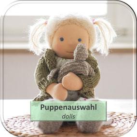 natürliche Kleidung für Puppen nach Art der Waldorfpuppe, Strickjacke für Puppe