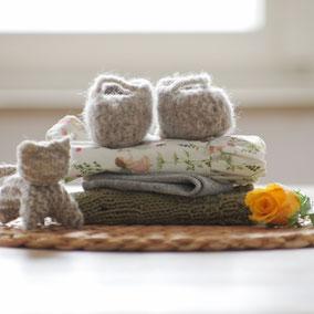 Puppenkleidung Bio Baumwolle handgemacht für Stoffpuppen