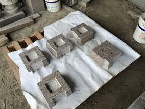 レール石32m+きりかげ束石/万成石
