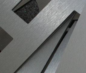 Metallbuchstaben mit Edelstahloptik