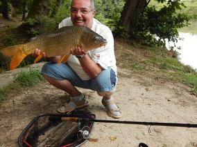Gilles, carpe commune prise à l'anglaise, le 4 septembre 2015