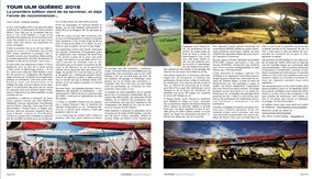 Tour ULM Québec 2015 - Aviation Magazine Septembre 2015.