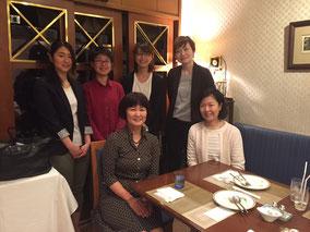4/3 東京家政大学澤田めぐみ教授、中家瞳助教を囲んで共同研究のスタートアップミーティング&ランチ@小川軒。どうぞよろしくお願いいたします。