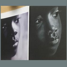Cours dessin crayon blanc sur papier noir - Atelier la petite muse