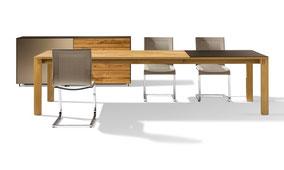 Team7 Auszugstisch Magnum Massivholztisch Holztisch Team7-Tisch Esszimmermöbel Tisch Esszimmer Stuhl Freischwinger Magnum