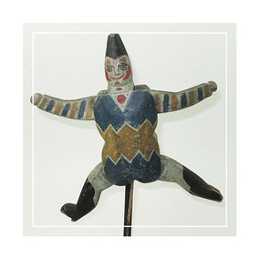 German folk art articulated jumping jack