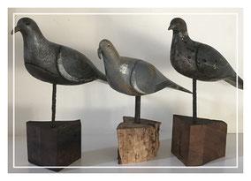 Antique decoy pigeons