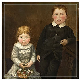 Late Victorian Portrait of a Boy and his Sister