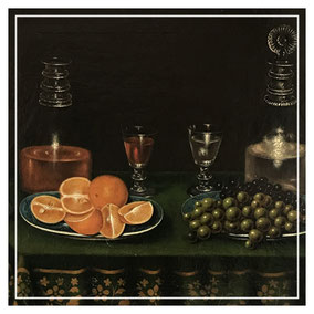 18th century dutch still life with wine and fruit