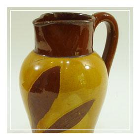 Ewenny Pottery slipware 'leaf' jug