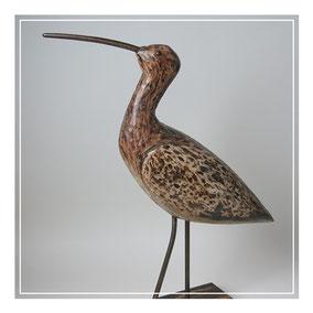 Folk art model of a curlew