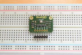 Assembly: Insert header pin into breadboard
