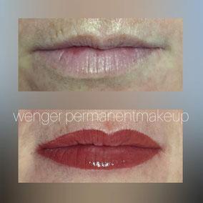 Permanent Make-up bei Wenger Kosmetik in Aarau, Lippen, Lippenrand