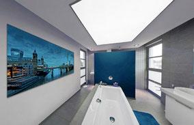 Bild als Dekoration im Bad