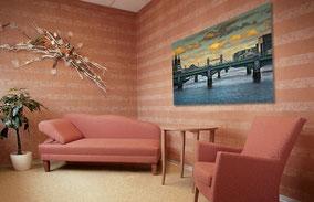 Dekoration mit Foto im Wohnraun