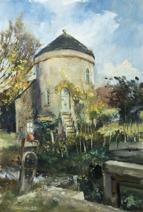 By Roger Jones. ' Roundhouse, Cerney Wick' oil still drying out.