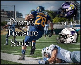 Lions (14) - (13) Pirates