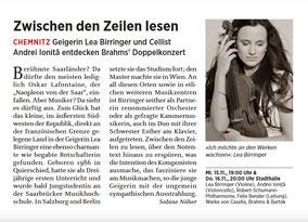 Geigerin Lea Birringer: Berühmte Saarländer?