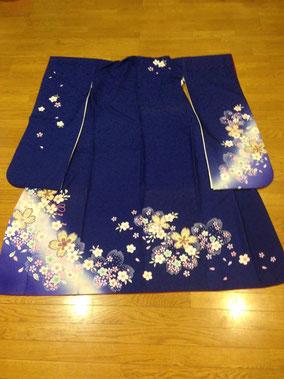 ブルー系桜の小花
