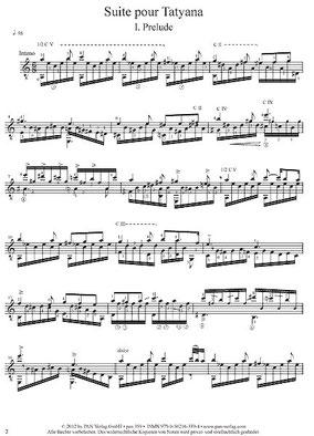Suite pour Tatyana Scores Noten