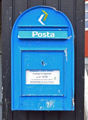 Ein färingischer Briefkasten.