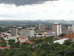Blick auf das Zentrum von Windhoek