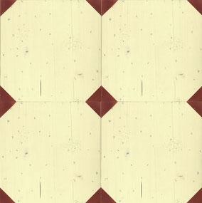 アイボリーアンドレッド パイン 木製タイル モザイクタイル ブイジュウニ V12 ブイジュウニフローリング ビンテージプラス ビンテージ アンティーク フローリング 無垢フローリング エイジング リノべ リノベーション おしゃれ インテリア ビンテージプラス vintage antique flooring