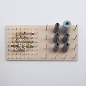 Sewing studio thread storage