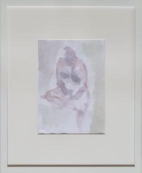 Sitzende,  Aquarell und Bleistift     von Maya Franzen      40 x 50 cm     www.kunst-werk-niederbayern.com