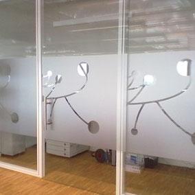 Milchglasfolie als Sichtschutz