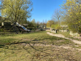 """Der Spielplatz """"Arsterix"""" ist öffentlich und befindet sich im Neubaubiet Arsten Südwest (Foto: 04-2020, Jens Schmidt)"""