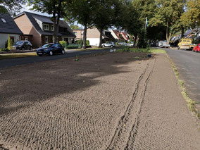 Umgepflügte Verkehrsinsel an der Bruchhauser Straße in Bremen-Kattenturm, Bremen Obervieland (Foto: Jutta Dreyer)