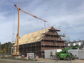 Baukran im Neubaugebiet Bremen-Arsten (Foto: 08.10.2018)