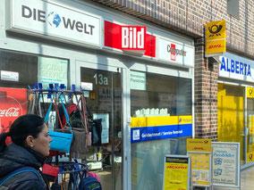 Der Tabakladen Alberta bietet seit April 2019 Postdienste in Bremen-Kattenturm an